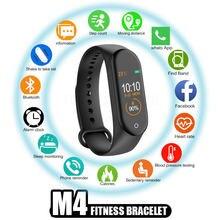 M4 Смарт часы Браслет фитнес трекер сна сообщения цветной экран