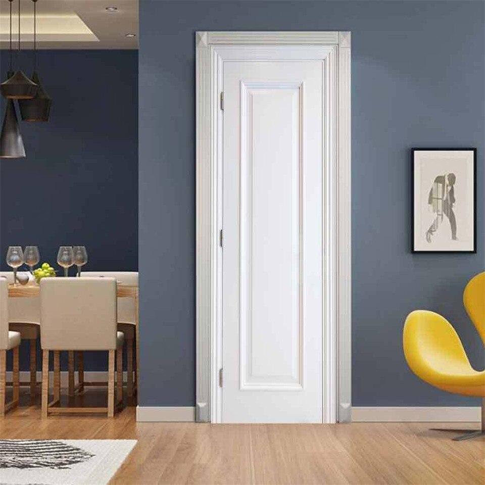 3D White Wooden Door Sticker Wallpaper For Living Room Bedroom Home Door Decoration Poster Self-adhesive Waterproof Mural Decals