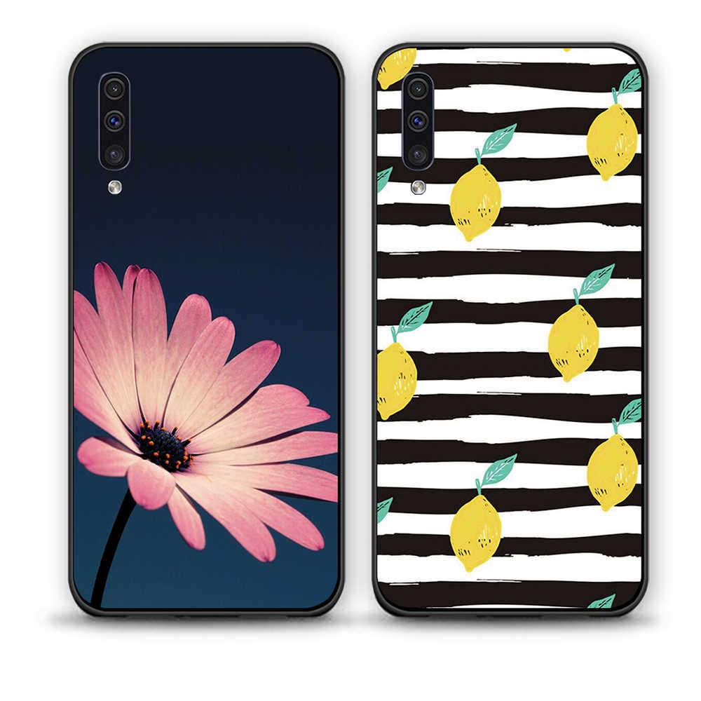 Para Samsung Galaxy A50 70 fundas de teléfono de silicona suave contraportada una pieza para Samsung Galaxy A50 A70 TPU cubierta