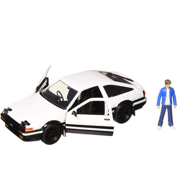 Initial D 124 scale AE86 metal alloy car model diecast car doll toy children gift collection decoration interior show model image