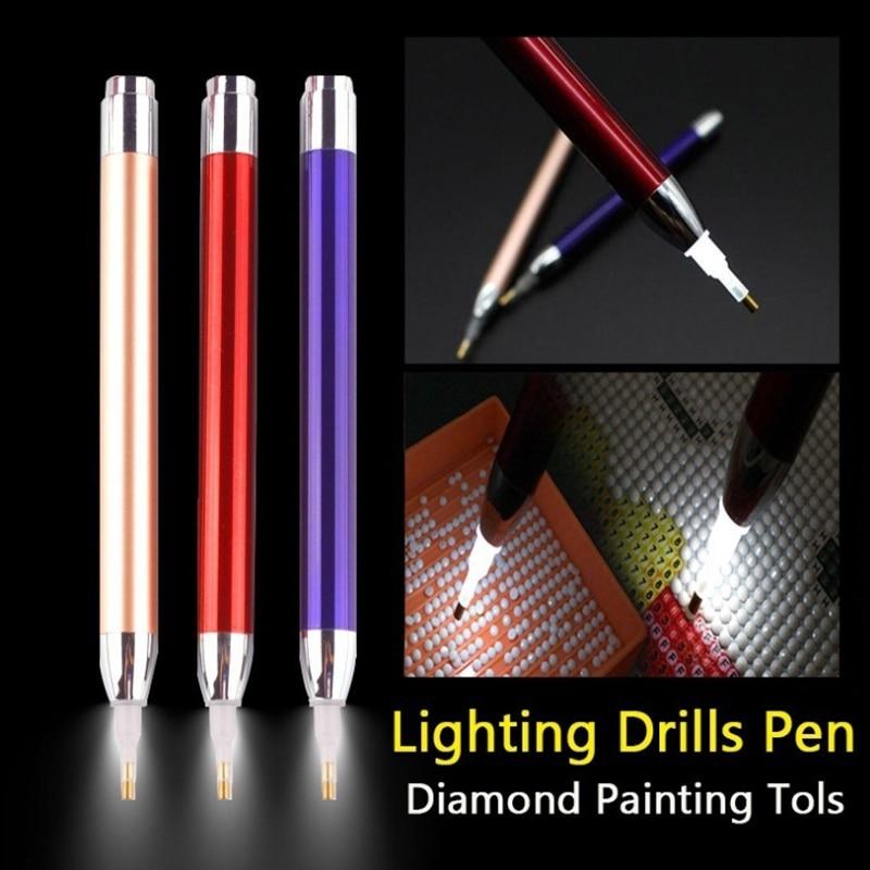 1PC DIY Diamond Painting Tool Lighting 5D Diamond Painting Point Drill Pen Sewing Accessories Crystal Cross Stitch