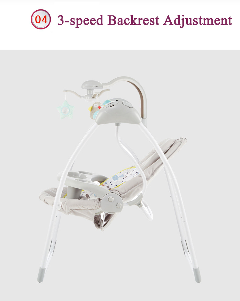 H19ebe790384e407c9d82367cf1cc9194R Babyinner Baby Rocking Chair Baby Bassinet Newborn Electric Cradle Foldable Baby Chair Multifunctional Swing Baby Sleeping Bed