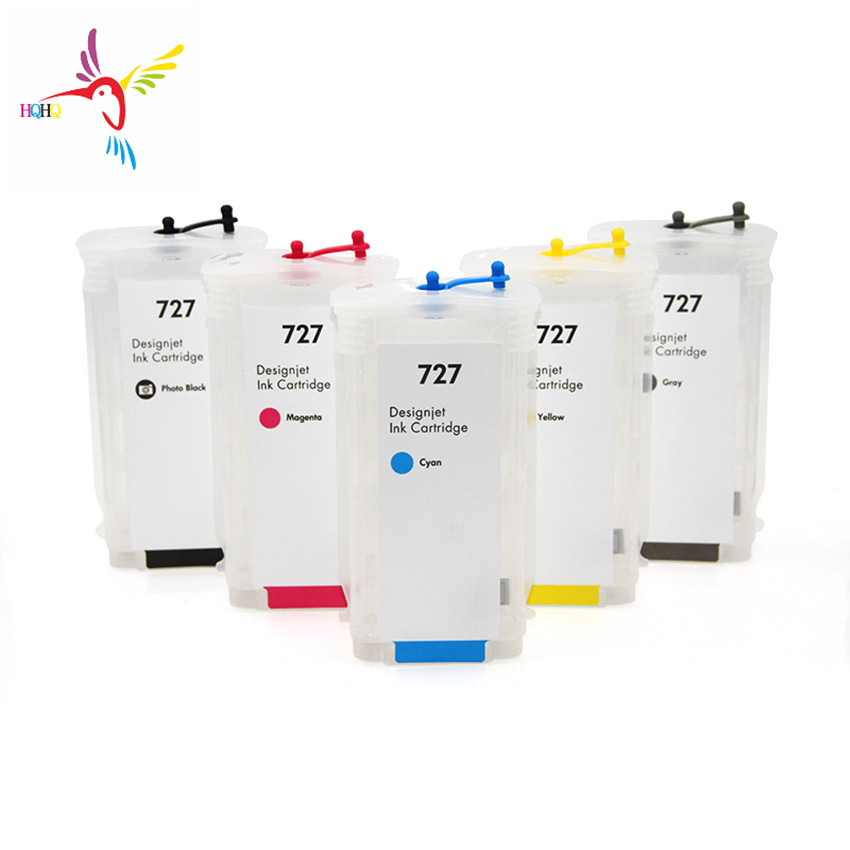 280ML/PC For HP 727 Empty Refill Ink Cartridge 727 For HP Ink For HP DesignJet T1530 T920 T1500 T2500 T930 Printer