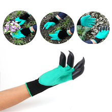 Gardening-Garden-Gloves Work-Tools with Fingertips Claws Genie Raking Digging Planting