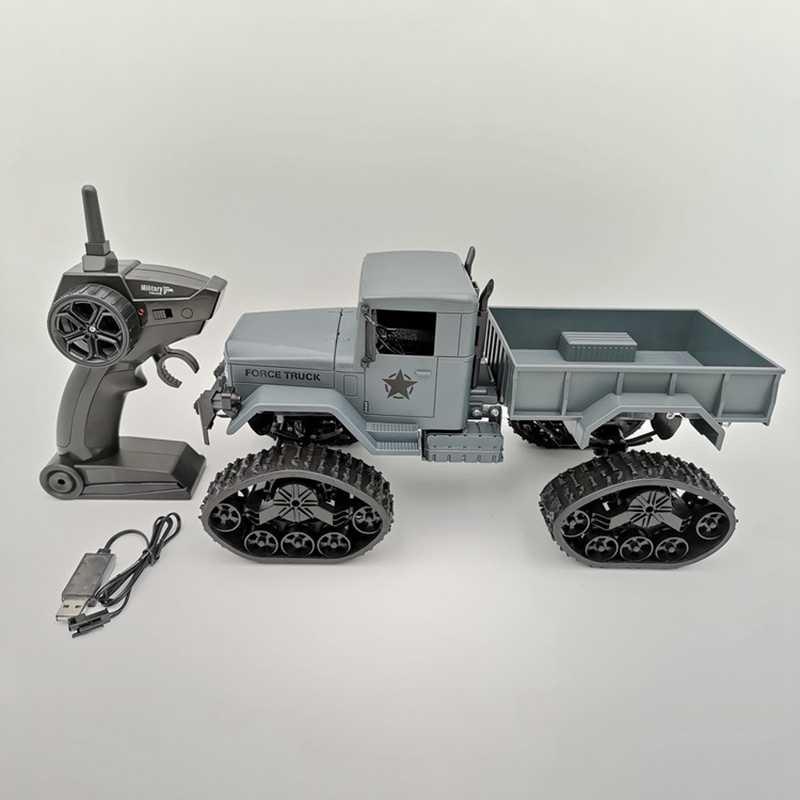 Camión de nieve rastreado WiFi HD Cámara transmisión en tiempo Real RC coche 4WD 2,4G neumático reemplazable camión de alta velocidad VS WPL B-16-FULL