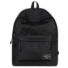 Solid Backpack Brand New Large Capacity Travel Bags Waterproof High Quality School Bag for Teenage Girls 2019 Black