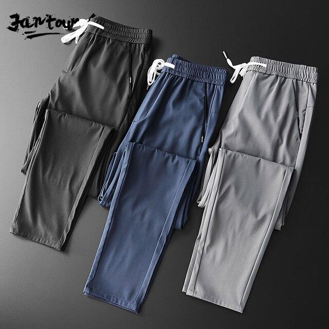 2020 Men Casual Sweatpants Fitness Men's Sportswear Joggers Pants Cotton New Male Blue Gray Gyms Trousers Pantalones Hombre 35
