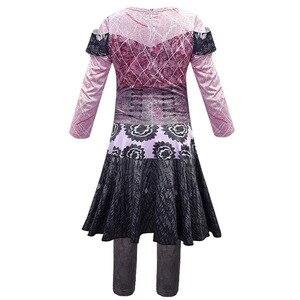 Image 2 - Kızlar/kadınlar kraliçe ortalama torunları 3 Mal Bertha Maleficent Cosplay Audrey kostüm kızlar cadılar bayramı partisi giyim 3D tulumlar
