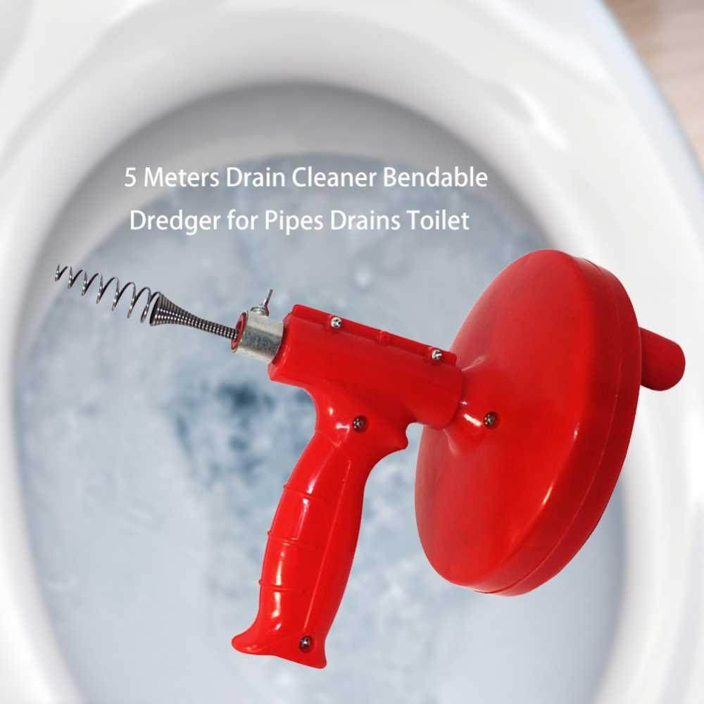 5M tahliye temizleyici kablo sıhhi tesisat lavabo temizleyici banyo küveti drenaj tuvalet tarak boruları kanalizasyon filtre lavabo temizleme takunya
