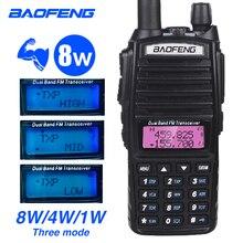 Power 8W UV 82 Walkie Talkie Baofeng High Power Dual Band CB Ham Radio Amateur 10KM UV82 Two Way Radio 8Watts VHF Transceiver
