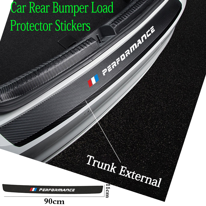 Leather Car Rear Bumper Stickers Trunk Guard Plate Molding for BMW M E36 E34 F10 E90 F30 F20 X3 E53 E70 g30 E30 E36 car