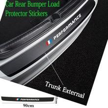 Leather Car Rear Bumper Stickers Trunk Guard Plate Molding for BMW M E36 E34 F10 E90 F30 F20 X3 E53 E70 g30 E30 E36 car