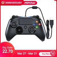 Mpow PS4 Spiel Controller USB Wired Gamepad Mehrere Joystick Vibration Griff 2M Kabel Gamepad für iPhone iPad PC für PS4/PS3