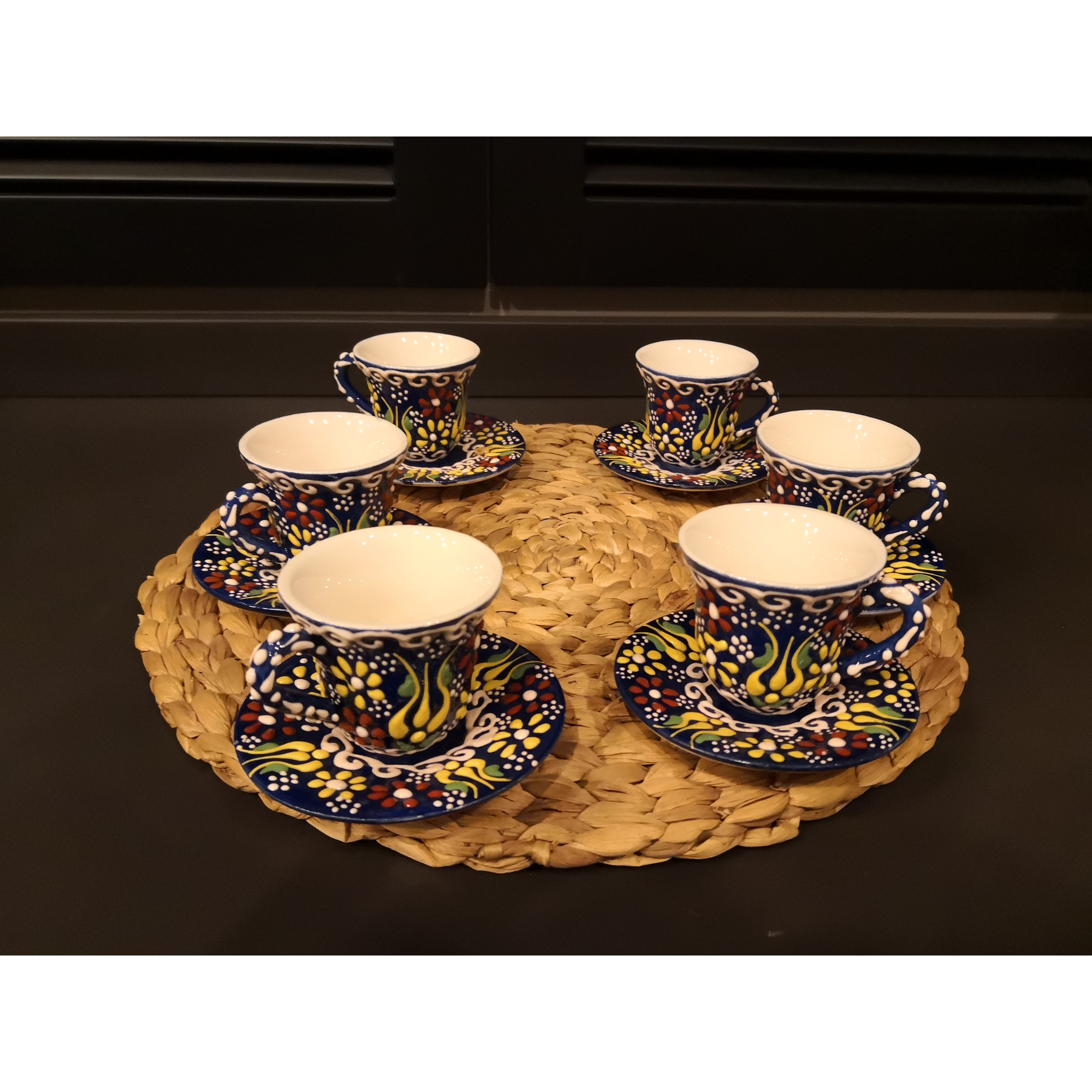 Set Of 6 Ceramic Ottoman Turkish Coffee Cups Set With Turkish Coffee Gift Made In Turkey Arabic Coffee Set Tea Cups Set Espresso