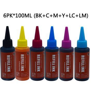 70ml 6 PCS Universal Refill Ink Kit for Epson L800 L801 L805 L810 L850 L1800 L351 L353 L551 Printer Ink Cartridge Ciss 6 Colors