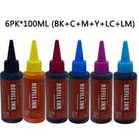 Refill Ink Kits printer ink 6colors Compatible for Printer Epson L800 L801 L805 L810 L850 L1800 L351 L353 L551 P50 T50