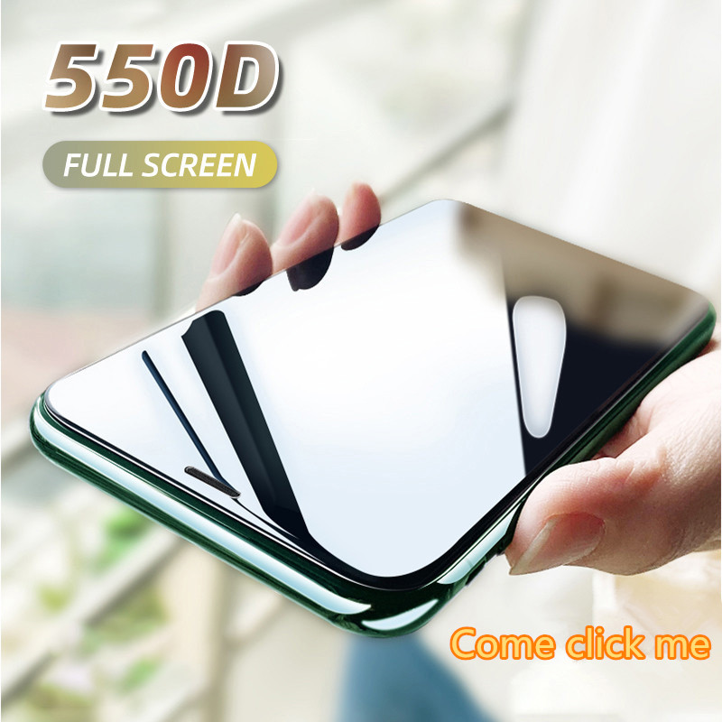 550D Full Cover Tempered Glass For IPhone 11 Pro Max Glass X XS Max XR Screen Protector Glass On For IPhone 6 6s 7 8 Plus X Film