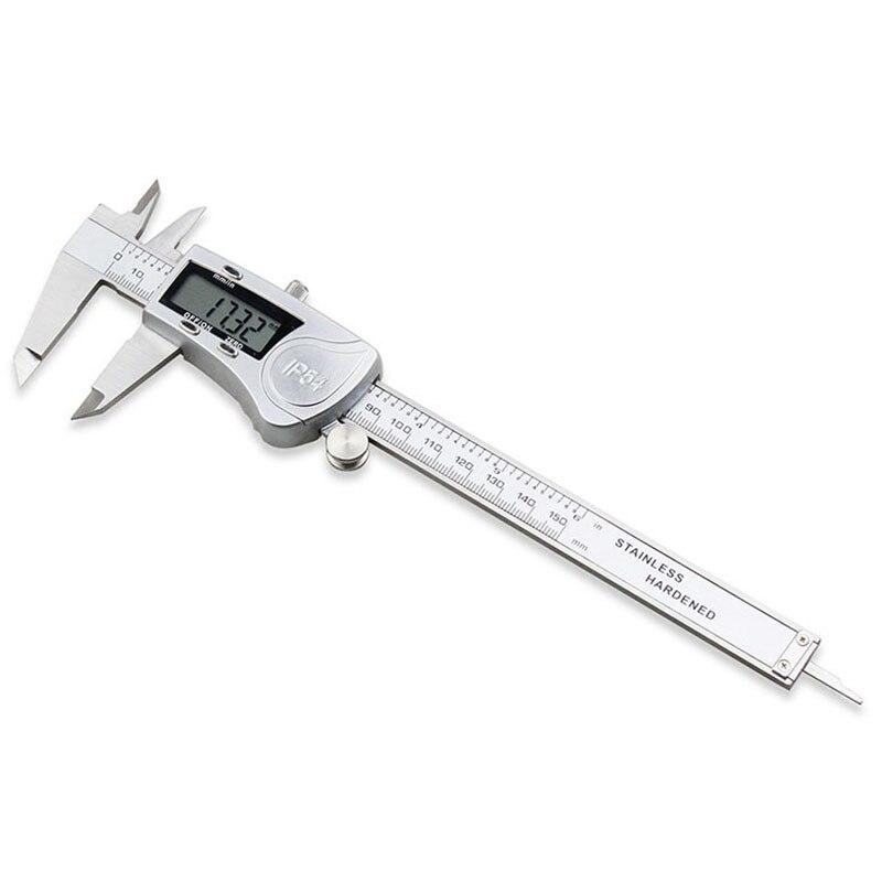 Aletler'ten Kumpaslar'de Elektronik dijital kumpas 150mm su geçirmez IP54 dijital kumpas Minimeter ölçer paslanmaz çelik sürmeli kaliper ölçme aracı title=