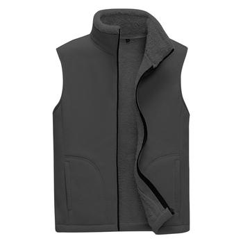 Mężczyźni polar nowa kamizelka męskie zimowe kamizelki na zewnątrz męskie polarowe kurtki bez rękawów mężczyźni Zipper kamizelki Casual Slim ciepłe kamizelki tanie i dobre opinie Crocodile Jesień I Zima CN (pochodzenie) Daily COTTON POLIESTER Na co dzień Vest Men #39 s jacket men vests men clothing