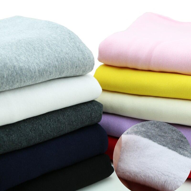 Winter Weichen Nicht Gießen Haufen Stretch Baumwolle Warp-Strick Samt Baby Hoodie Sweat Hosen Kleid Stoff
