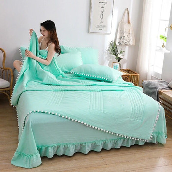 2020 New Flannel Blanket Thin Quilt Sofa Cover bed cover Summer cotton quilt air conditioner can be washed Plush lace Blankets pug dog pattern filled air conditioner quilt for summer