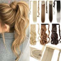 S-noilite-Extensión de cabello sintético para mujer, coleta de 17