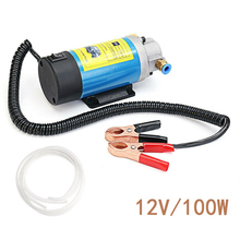 цена на 12V Oil Pump Electric Fuel Pump Siphon Pump 1-4l/min Electric Oil Transfer Scavenge Suction Pump Oil Extractor Set with Tub