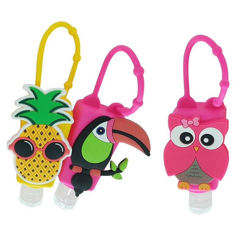 Silicone Cute Cartoon Owl/Bird Mini Hand Sanitizer Disposable No Clean Detachable Cover Travel Portable Safe Gel
