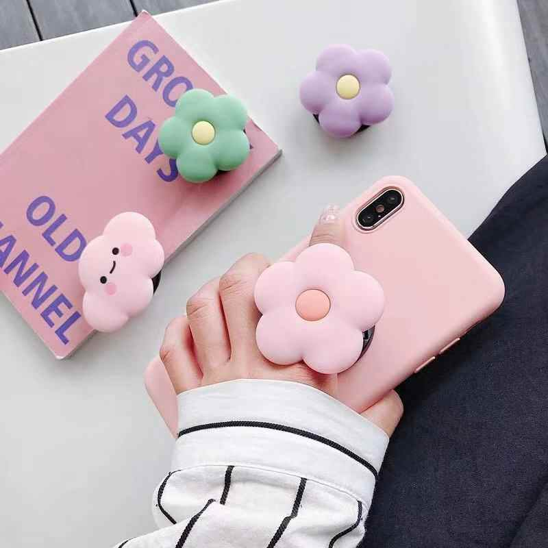חדש קריקטורה עגול אוניברסלי נייד טלפון טבעת מחזיק כרית אוויר Gasbag פי Stand סוגר הר עבור iPhone XR סמסונג Huawei Xiaomi
