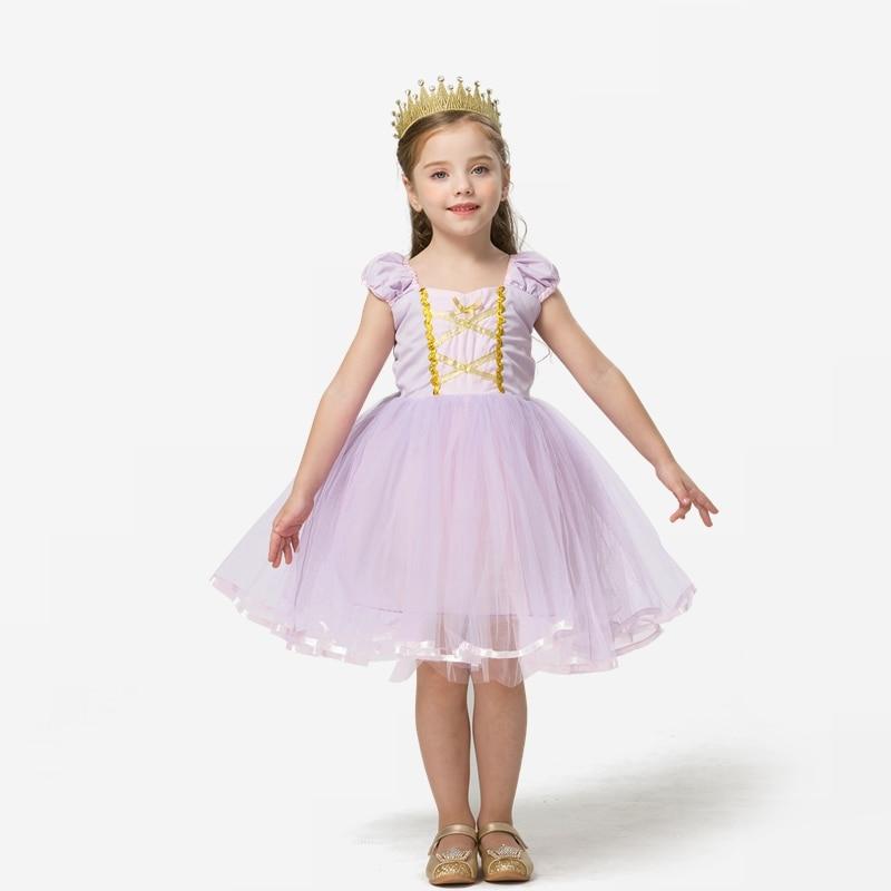 Princess Costume Snow Party Cosplay Dress For Girls Kids Dress up Clothing Fancy Halloween Dress Birthday Dress 4
