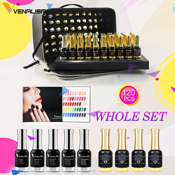 120pcs*12ml VENALISA Gel Varnish Whole Set Nail Salon Used Gel Polish Kits Luxury Color Palette Shining Glitter Starry Soak Off