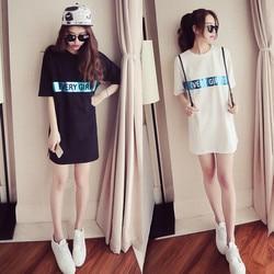 Tops Casual Loose Letter Print Woman Tshirts Summer Fashion O-Neck Short Sleeve Ladies Mini Dress Tshirt Dropshipping Kawaii