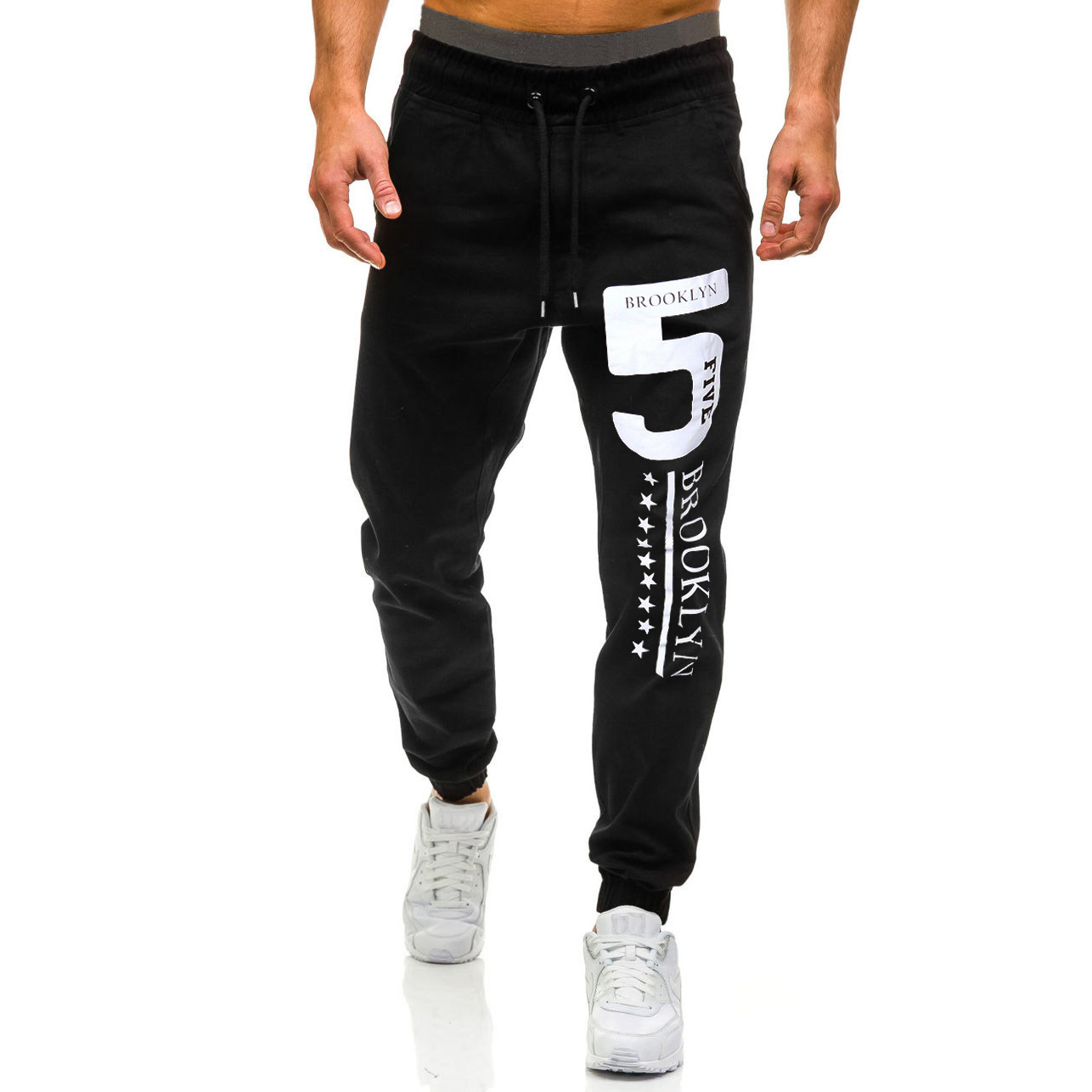 Hot Selling 2019 New Style Plus-sized Menswear Fashion Casual Pants Trend Beam Leg Casual Pants 3455