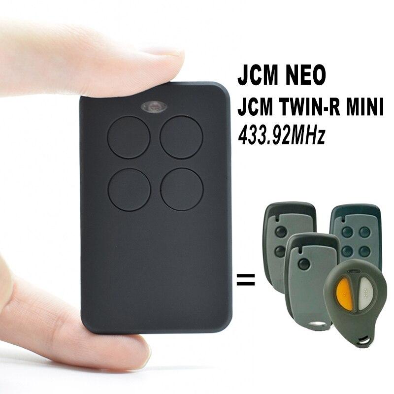 JCM NEO / JCM TWIN-R MINI Garage Remote Control 433.92MHz Command Gate Opener