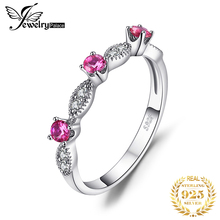 JewelryPalace 3 Stone Round 0.45ct Created Ruby Engagement Wedding Rings For Women 925 Sterling Silver 2017 Fashion Fine Jewelry цена 2017