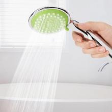 Electroplating Bathroom Hand-Held Shower Head Drop Resistant Bath Showering Sprayer Head hand shower douchekop цена