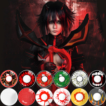 Halloween-Contact-Lenses Makeup-Lenses Eyes Cosplay Anime Crazy Colored 2pcs/pair