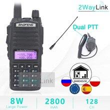 8 W 5W BaoFeng UV 82 Walkie Talkie con NA 771 Antenna 8 Watt U/V Baofeng UV 82 walkie Talkie 10 KM 8 W Radio uv 9r ham radio