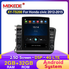 Tesla écran Android Gps autoradio pour Honda Civic 2012 2013 2014 2015 multimédia stéréo Auto Dvd Speler Navigatie DSP Carplay