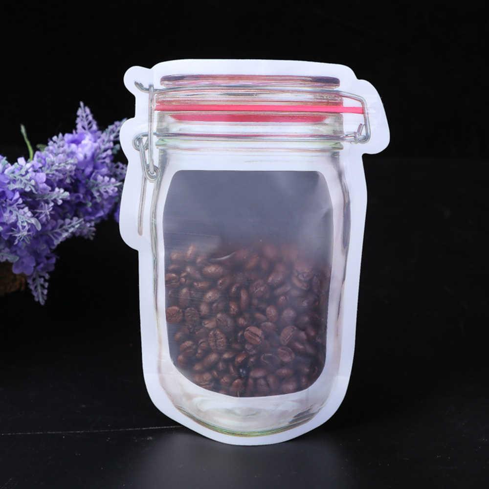 1 Pc Herbruikbare Opslag Rits Stand Up Tas Zakjes Zip Lock Jar Pe Lock Food Grade Plastic Zakken Geur Proof clip Accessoires 3