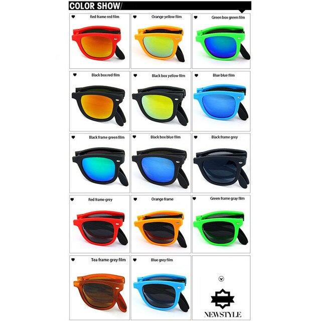 RBRARE-lunettes De Soleil pliables avec boîte | Lunettes De Soleil classiques Vintage pour hommes et Shopping voyage colorées, UV400 Lunette De Soleil pour Femme