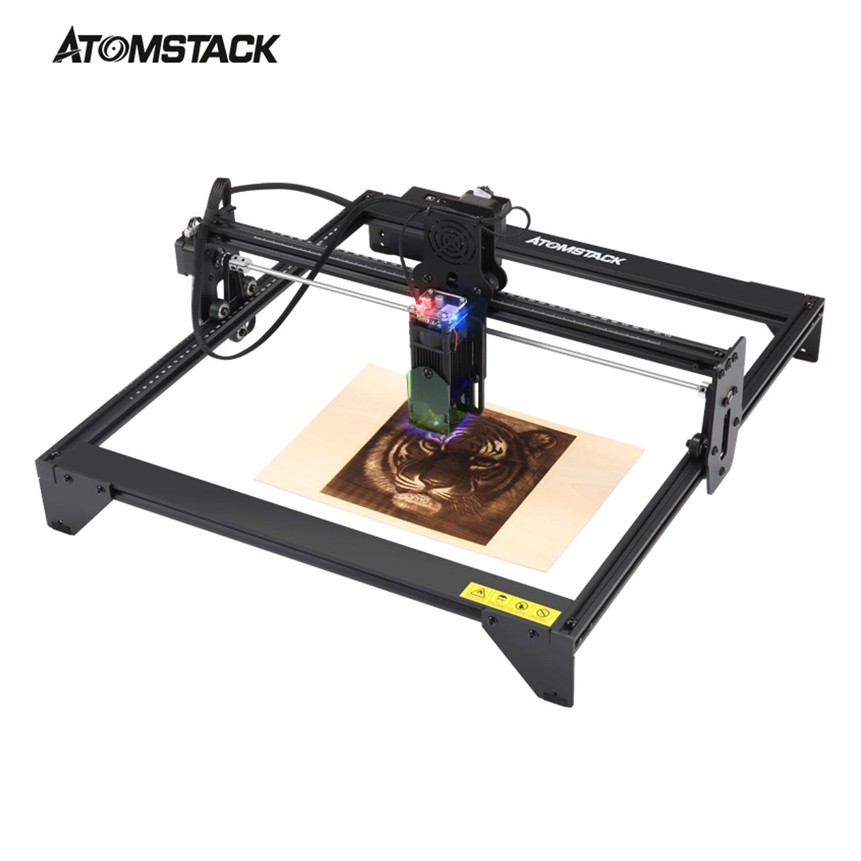 ATOMSTACK A5 20W Laser graveur CNC 410*400mm zone plein-bureau en métal bricolage gravure découpe sculpture Machine Logo marque imprimante
