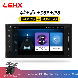 LEHX 2DIn Raido samochód android 9.0 samochodowy odtwarzacz multimedialny dla toyota vios korona camry hiace previa corolla rav4 2din odtwarzacz dvd