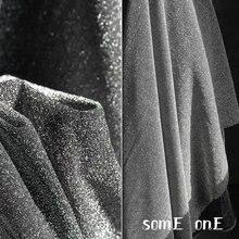 С бриллиантовым блеском Тюль Ткань темного серебра diy вечерние
