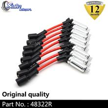 XUAN 8pcs Ignition Spark Plug Wire Kit Set Cable 48322R For Saab 9 7x Buick Allure LaCrosse Rainier Isuzu Ascender Cadillac CTS