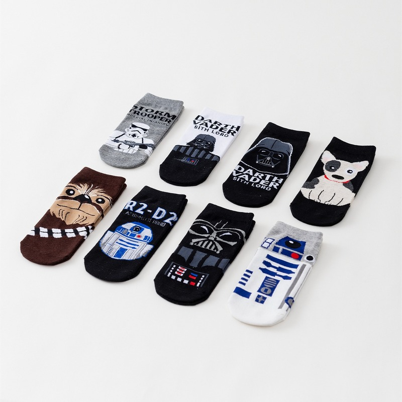Star Wars Men Socks High Quality Women New Cartoon Sport Socks Wookiee Jedi Knigh Party Novelty Funny Movie Cosplay Party Socks