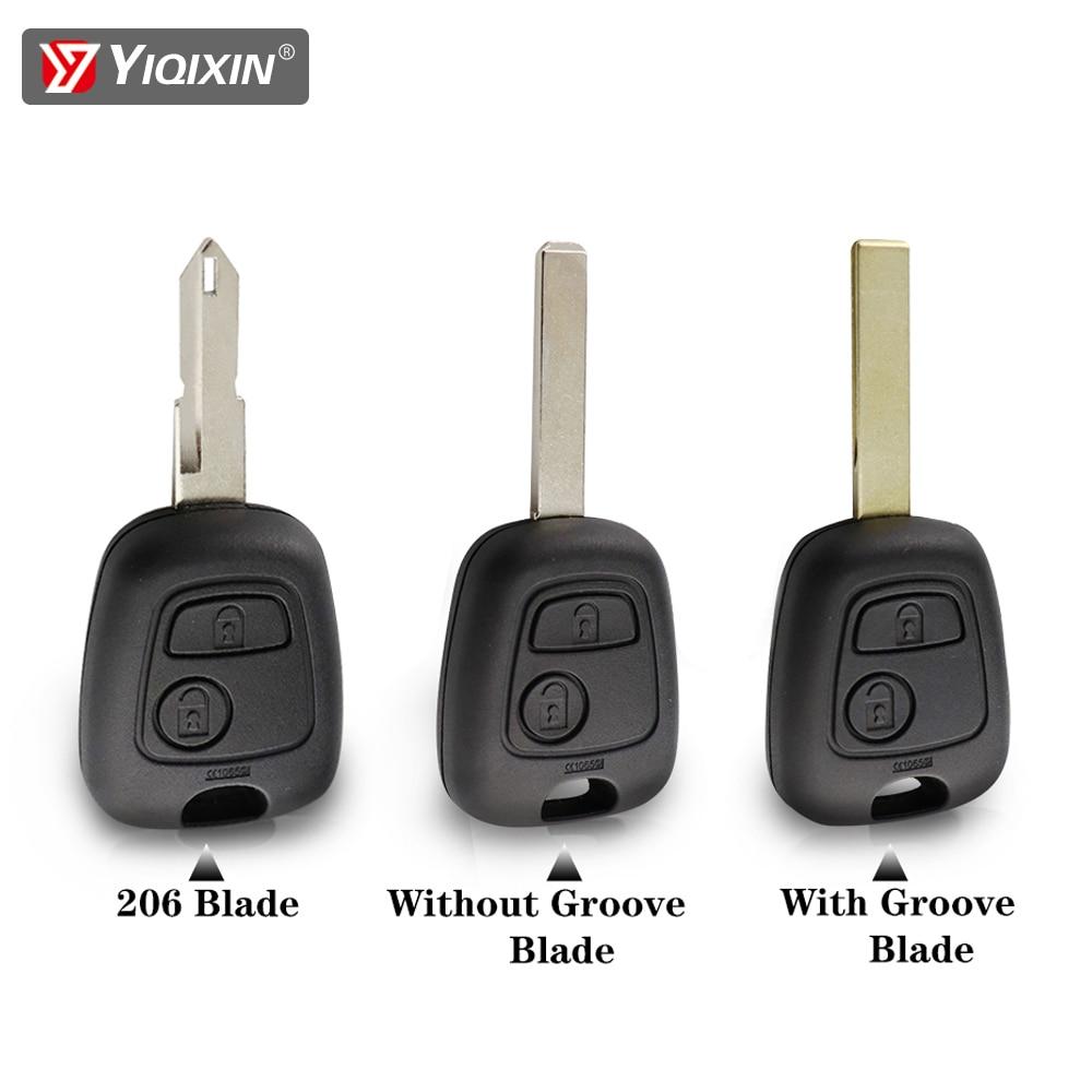 Yiqixi Key Housing For Peugeot 206 207 307 107 306 407 106 406 Remote Car Key Shell Fob Cover Case For Citroen C1 C2 C3 2 Button Big Promo 0264da Cicig