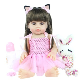 Hot Selling 48cm Full Silicone Soft Body Girl Boy Reborn Baby Doll Toy Like Alive