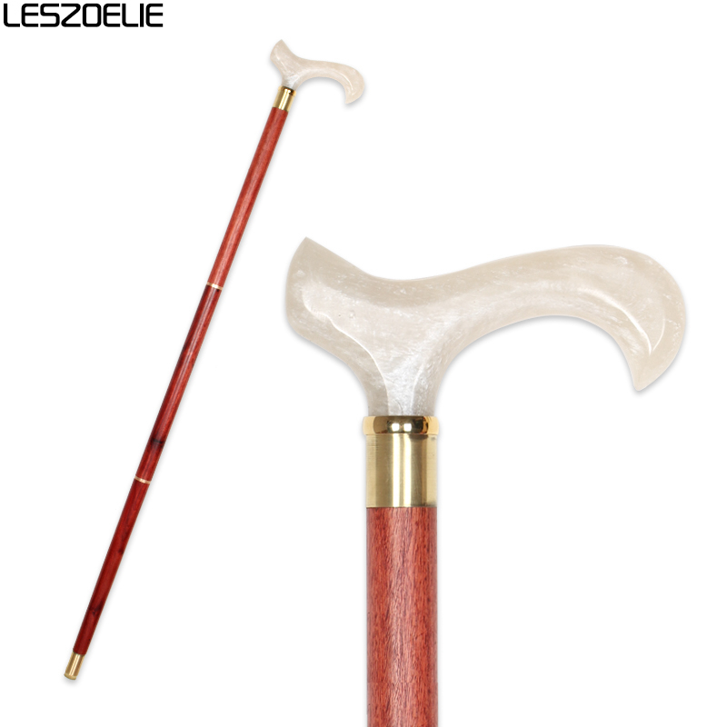 Resin Handle Red Wooden Walking Stick Man Luxury Decorative Cane Women Fashion Elegant Walking Stick Vintage Walking Canes