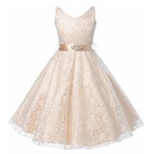 CAILENI Kid Girls Princess Dress koronkowe ślubne sukienki na przyjęcie urodzinowe białe czarne dzieci tańczące sukienki na 3 14 lat